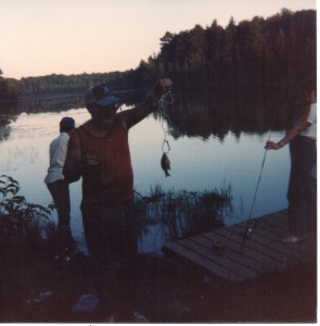 A prime example of my dad's fishing skills!